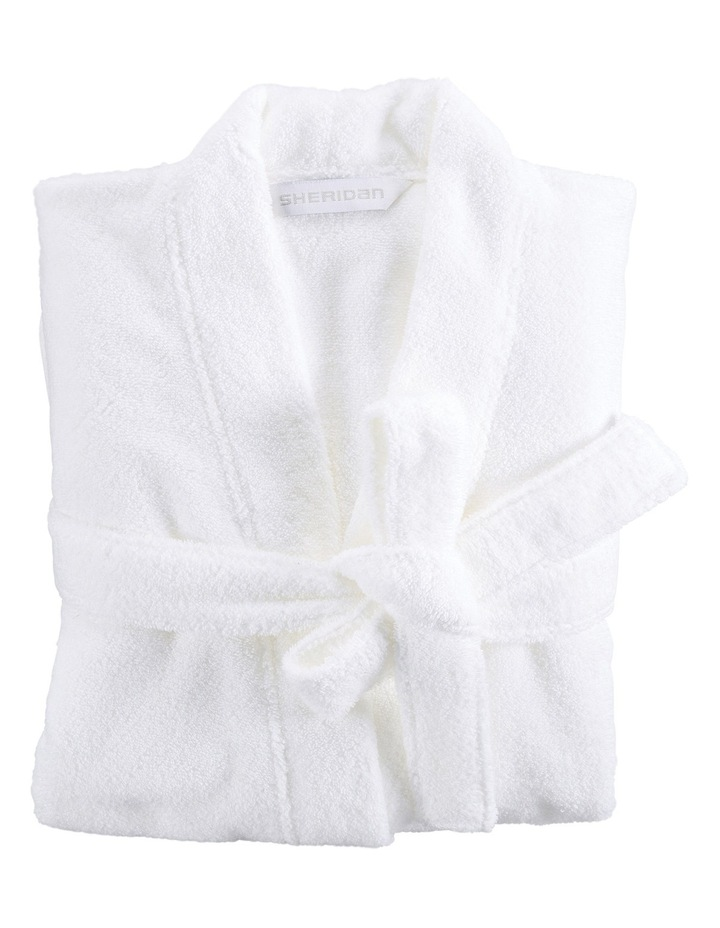Quick Dry Luxury Bath Robe in White image 1
