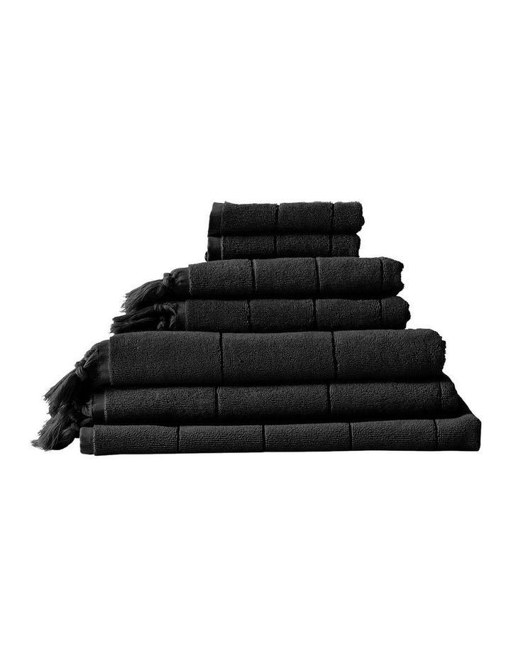 Paros Towel Range in Black image 1
