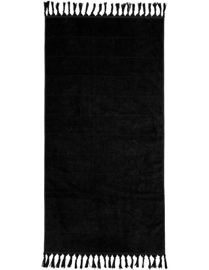 Paros Bath Towel Range In Black image 2