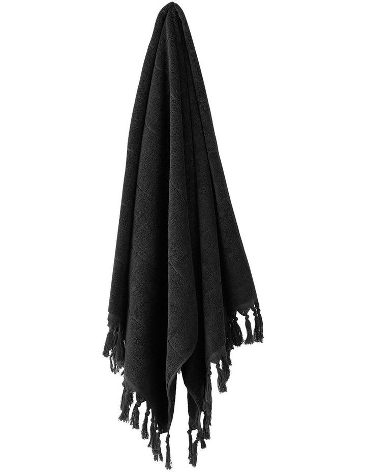 Paros Towel Range in Black image 2