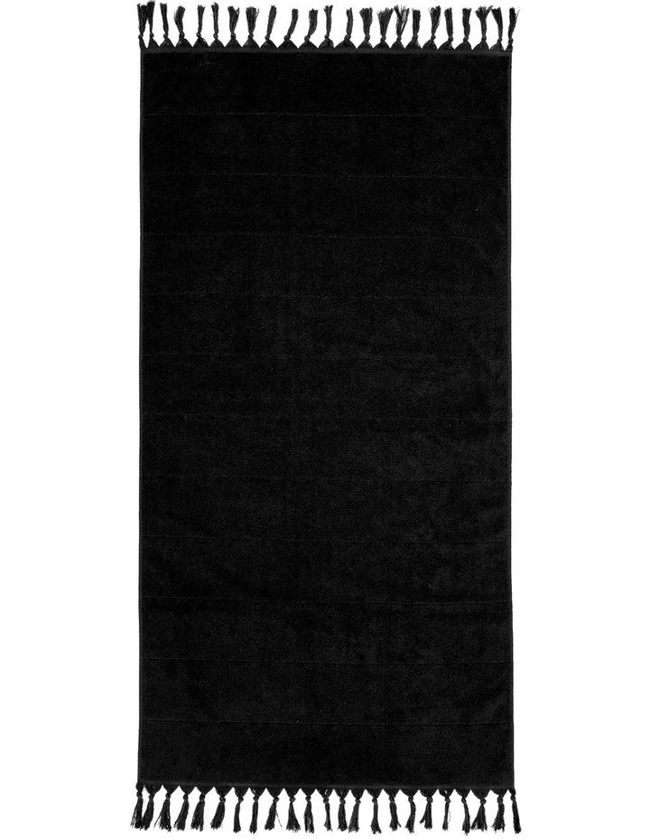 Paros Towel Range in Black image 3