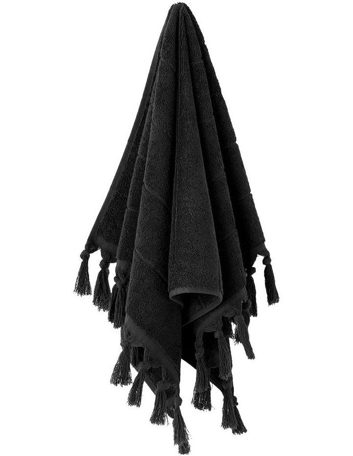 Paros Towel Range in Black image 4