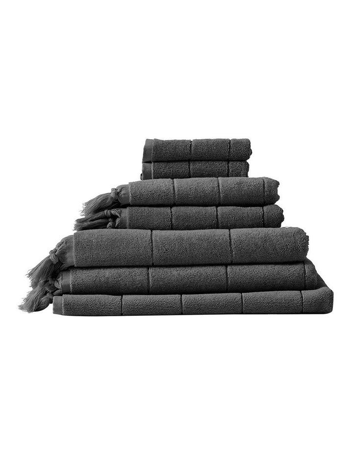 Paros Towel Range in Charcoal image 1