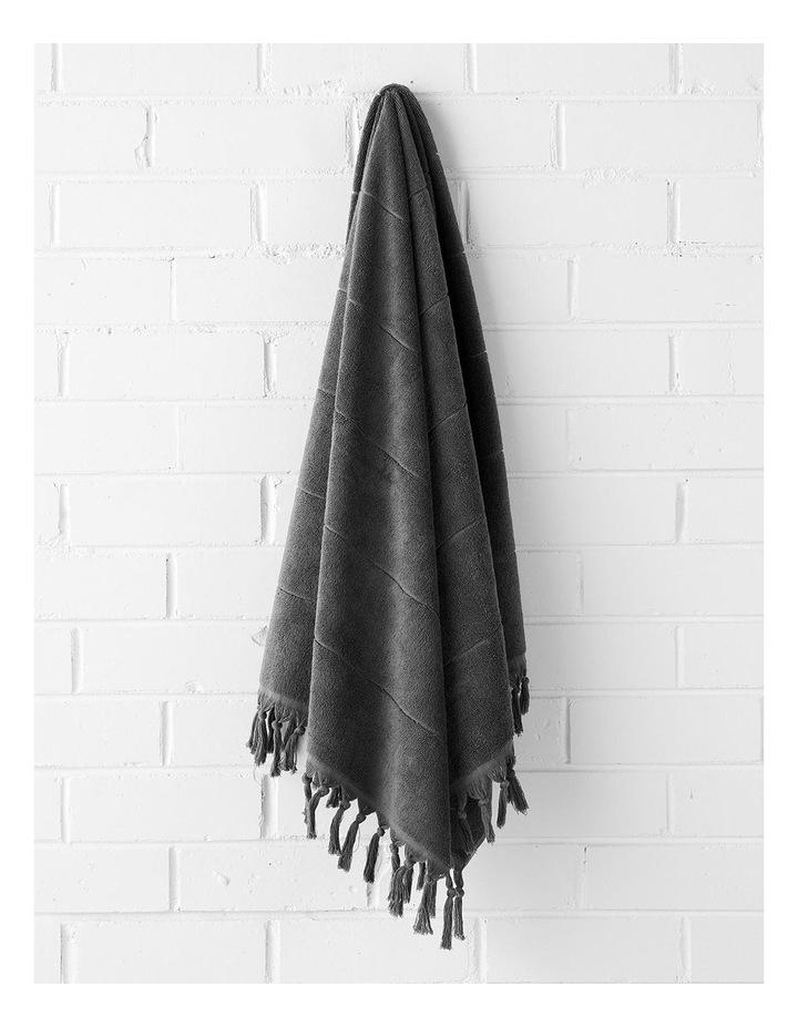 Paros Towel Range in Charcoal image 2
