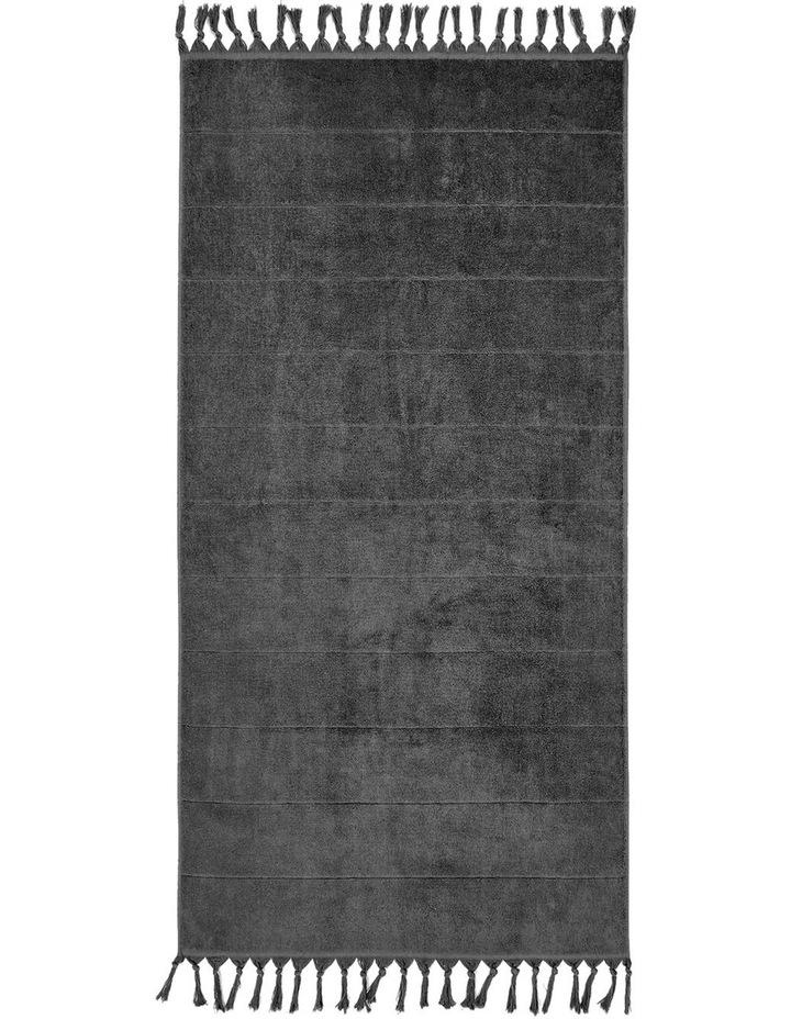 Paros Towel Range in Charcoal image 3