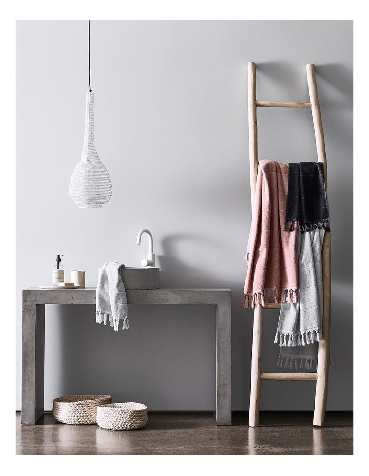 Paros Towel Range in Charcoal image 6