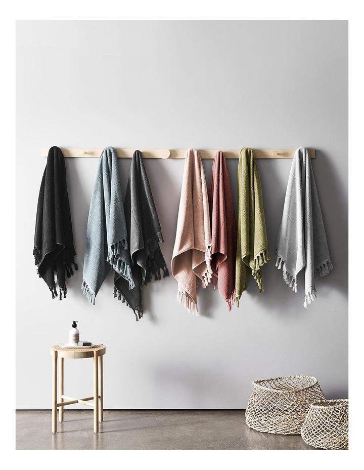 Paros Towel Range in Charcoal image 7