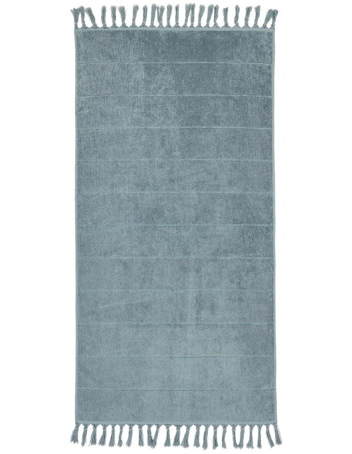 Paros Bath Towel Range in Eucalypt Green image 2
