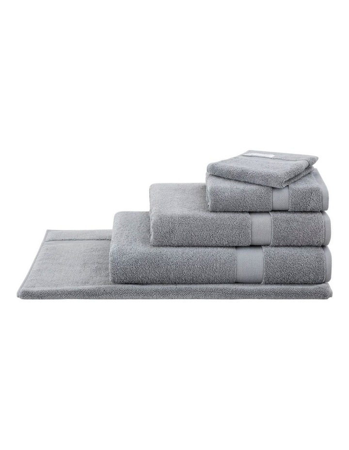 Organic Cotton Eden Towel Range in Blue Shadow image 1