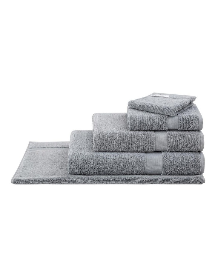 Organic Cotton Eden Towel Range in Blue Shadow image 2