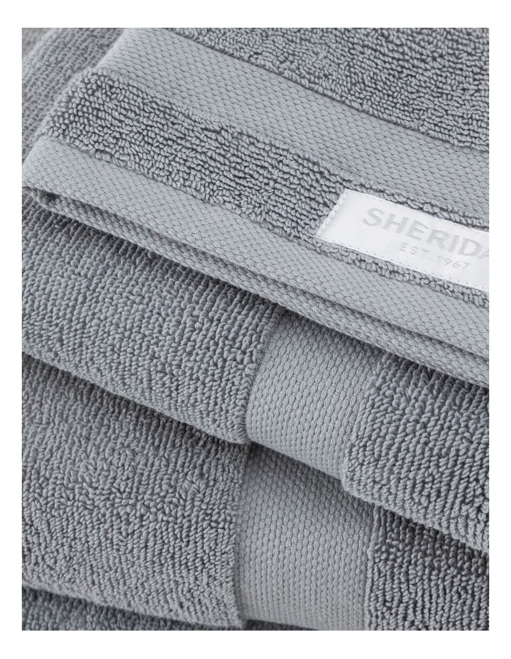 Organic Cotton Eden Towel Range in Blue Shadow image 3