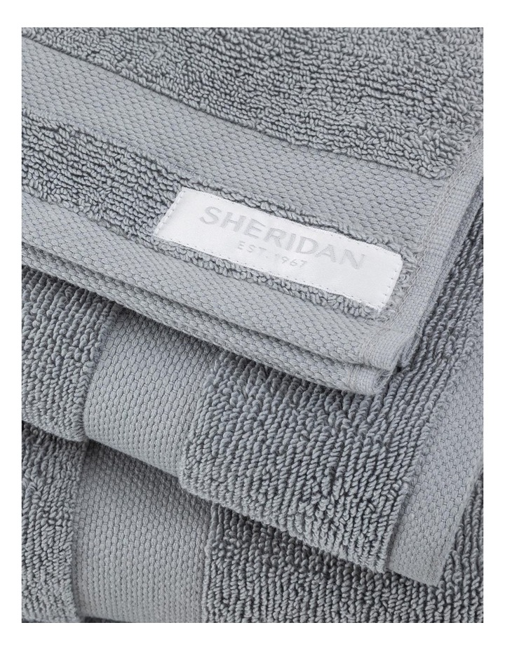 Organic Cotton Eden Towel Range in Blue Shadow image 4