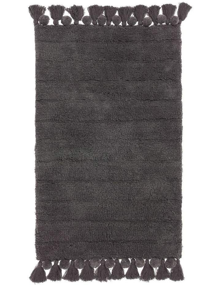 Asher Bath Mat In Charcoal image 1