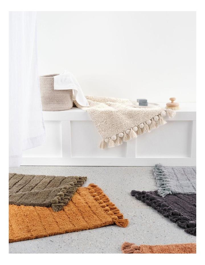 Asher Bath Mat In Brandy image 2