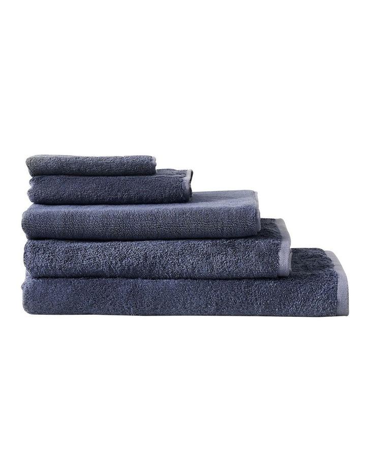 Nara Cotton Bamboo Towel Range in Blue image 2