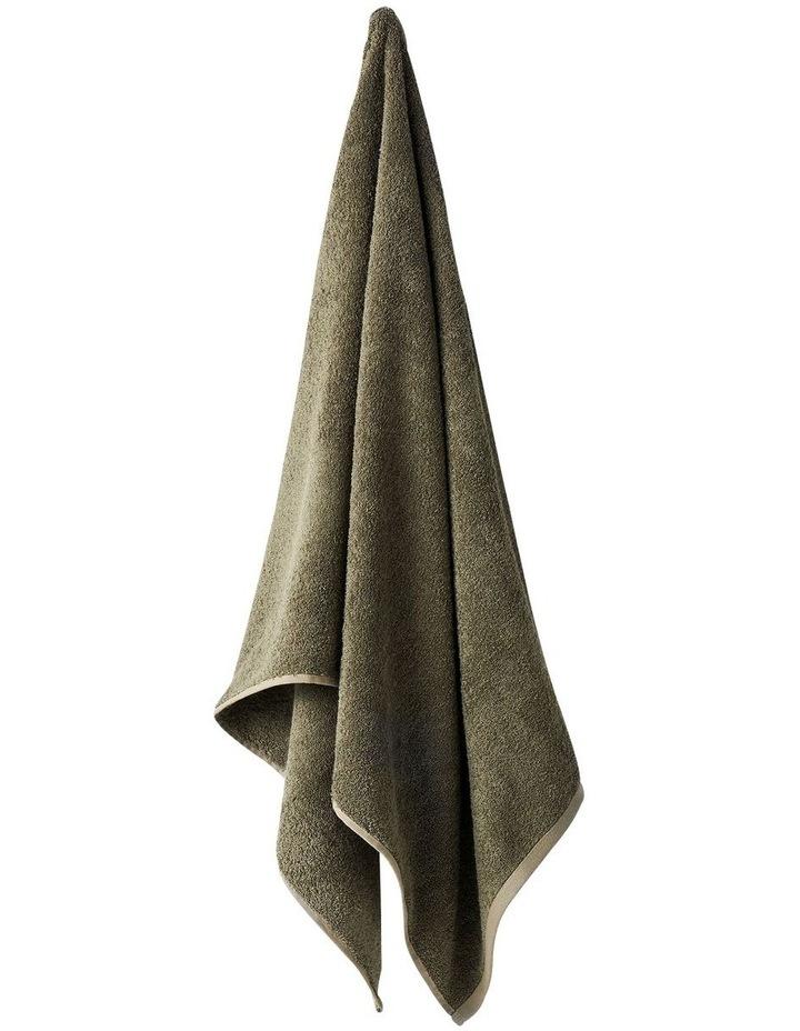 Nara Cotton Bamboo Towel Range in Moss Green image 2
