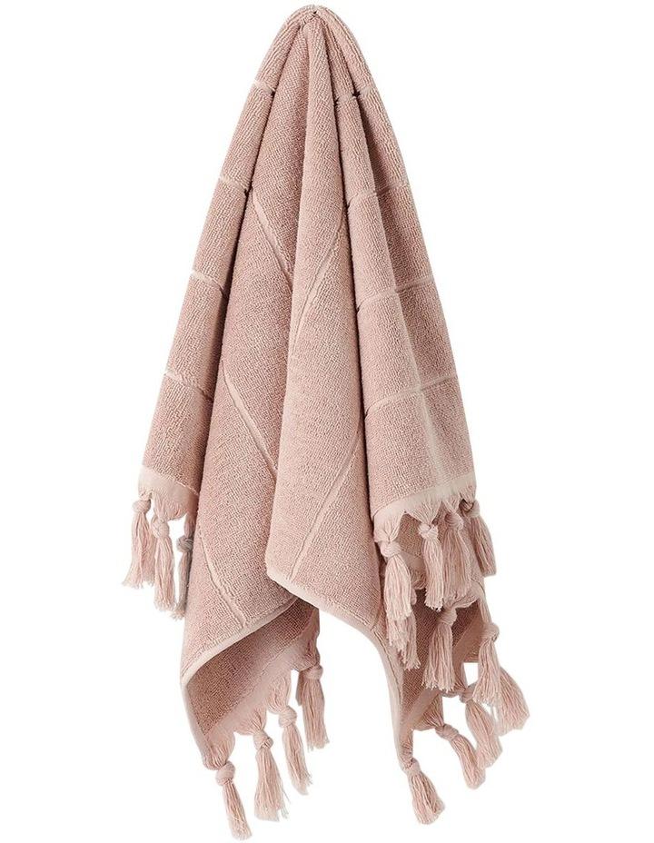 Paros Bath Towel Set In Pink Clay image 2