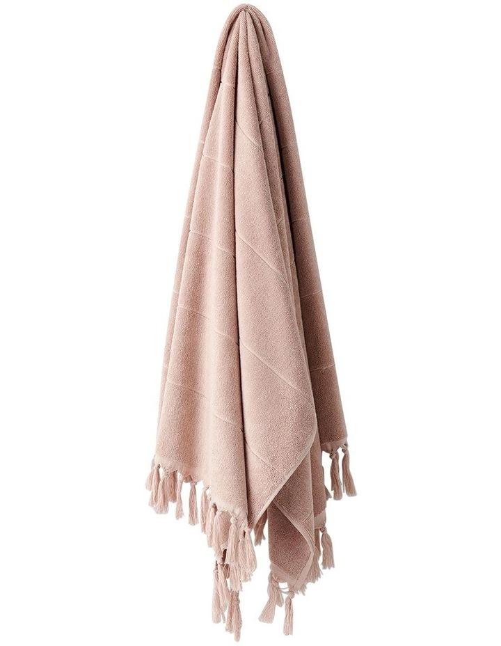 Paros Bath Towel Set In Pink Clay image 3