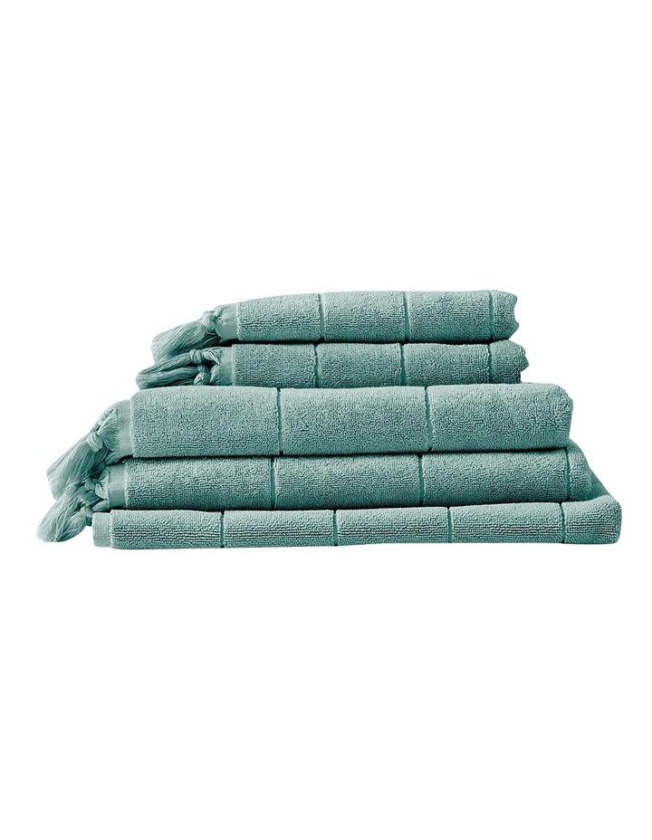 Paros Bath Towel Set in Jade image 1