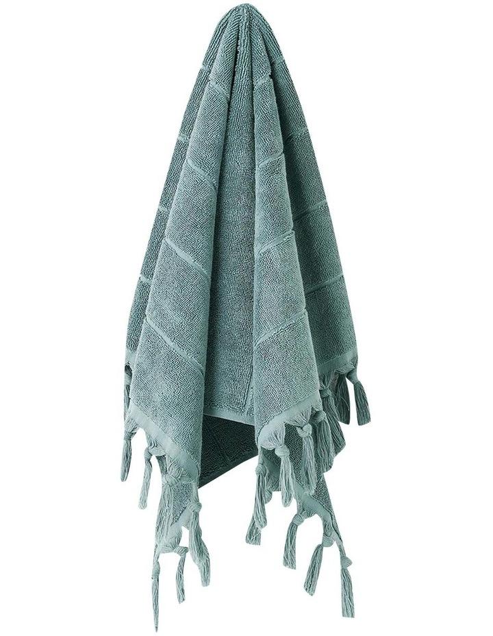 Paros Bath Towel Set in Jade image 2