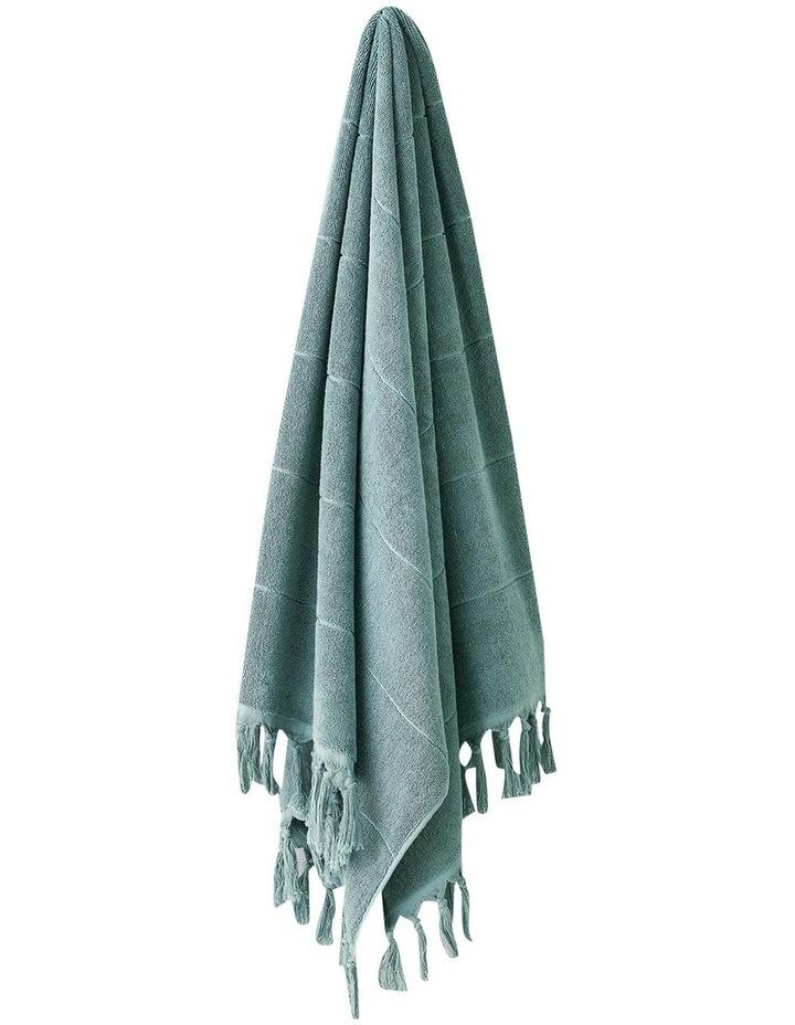 Paros Bath Towel Set in Jade image 4