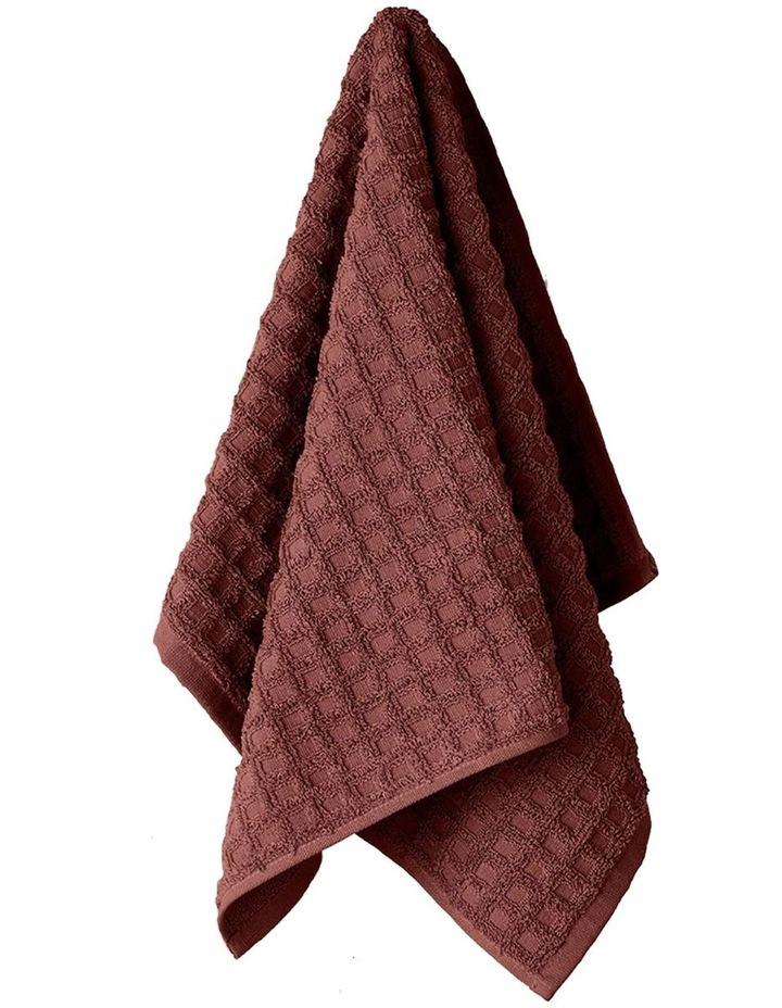 Waffle Bath Towel Set in Mahogany image 2