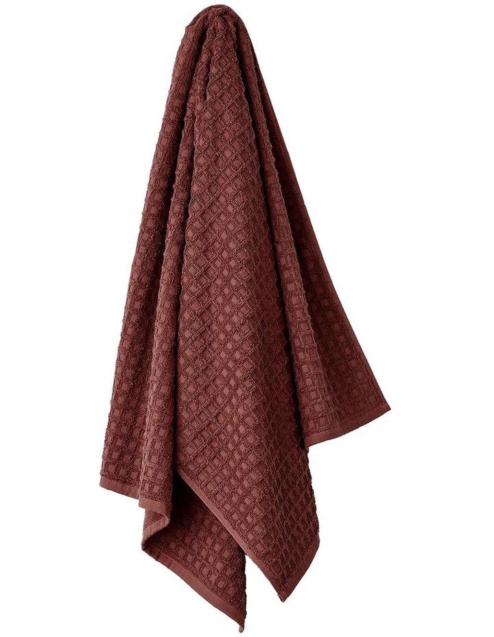 Waffle Bath Towel Set in Mahogany image 3