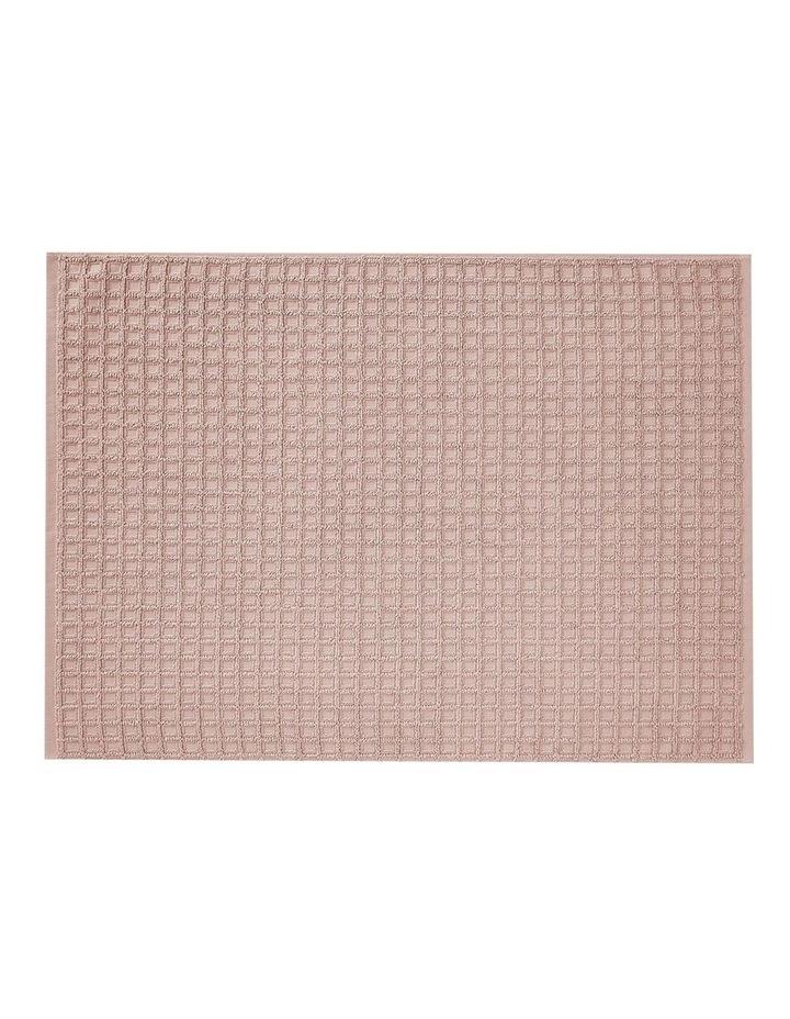 Waffle Bath Towel Set in Pink Clay image 4