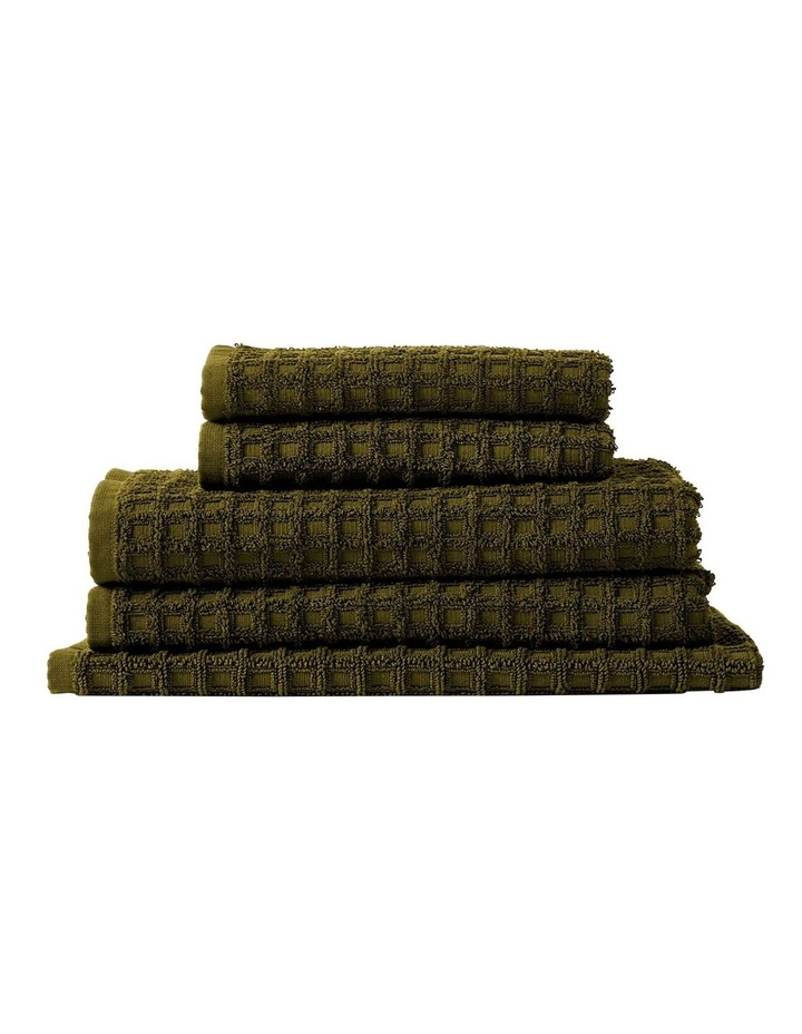 Waffle Bath Towel Set - Khaki image 1