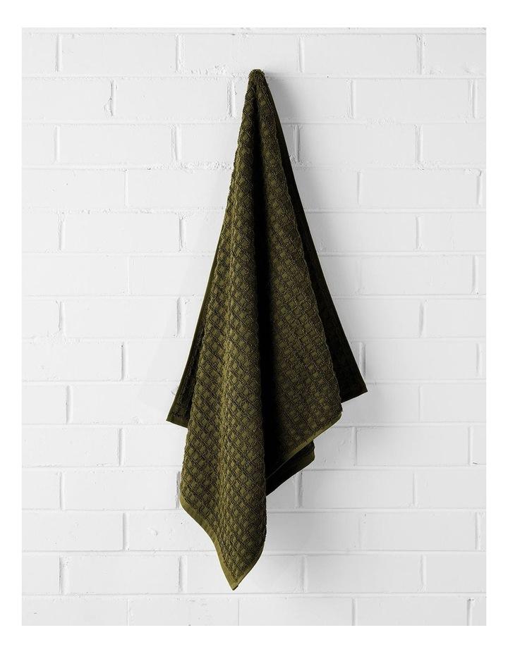 Waffle Bath Towel Set - Khaki image 3