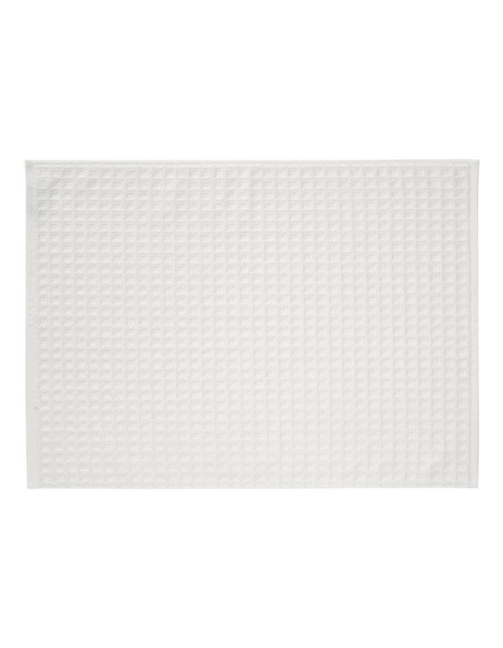 Waffle Bath Towel Set - White image 4