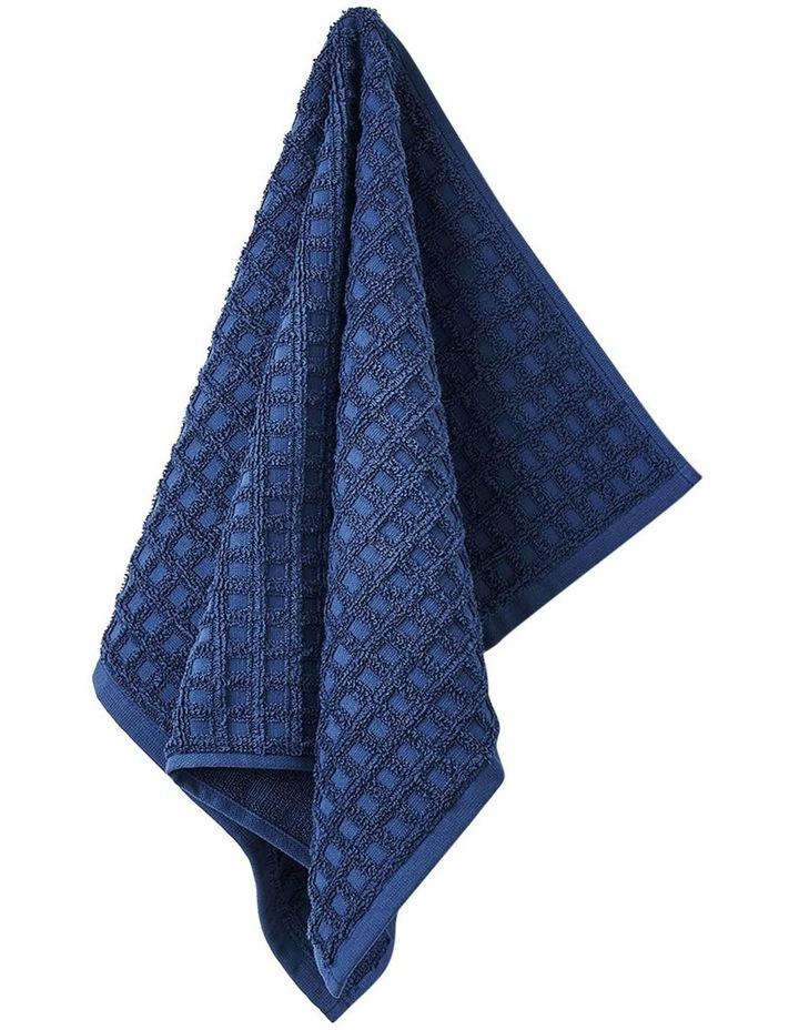 Waffle Bath Towel Set - Bijou Blue image 2