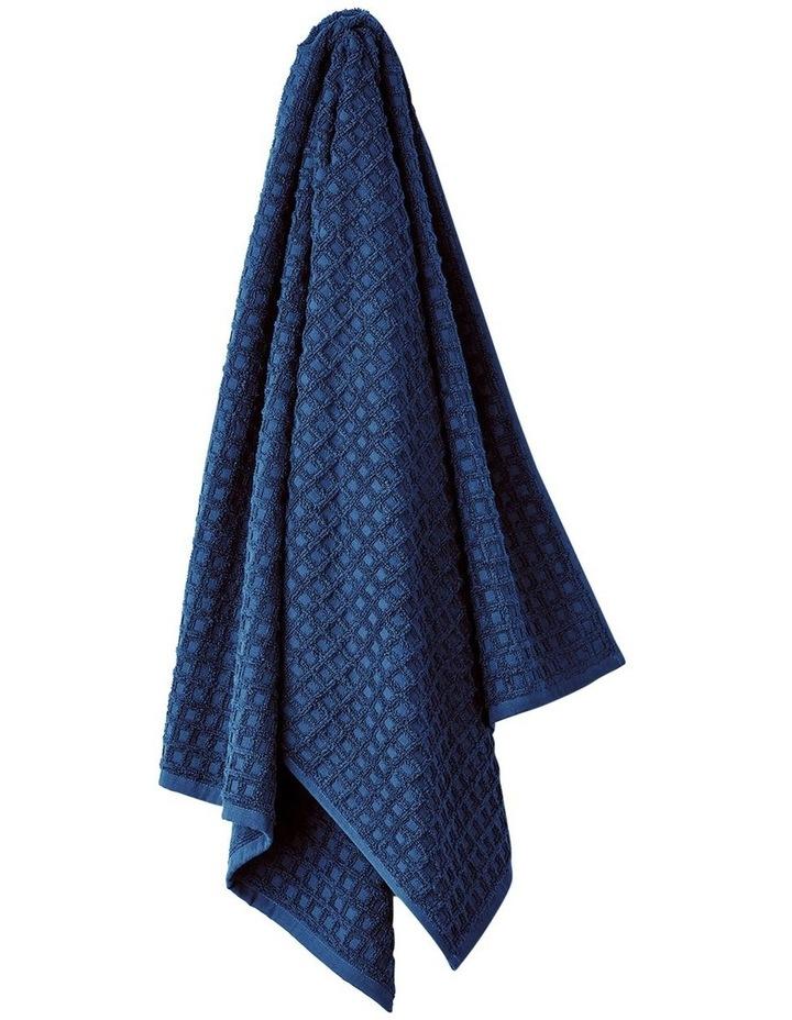 Waffle Bath Towel Set - Bijou Blue image 3