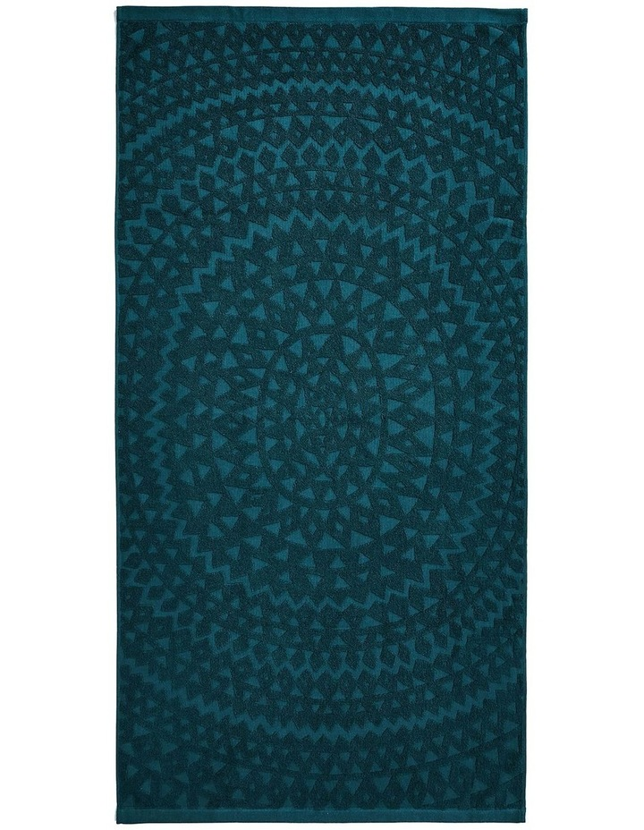 Maya Bath Towel Set in Indian Teal image 3