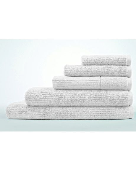Living Textures Towel Range in Snow image 1