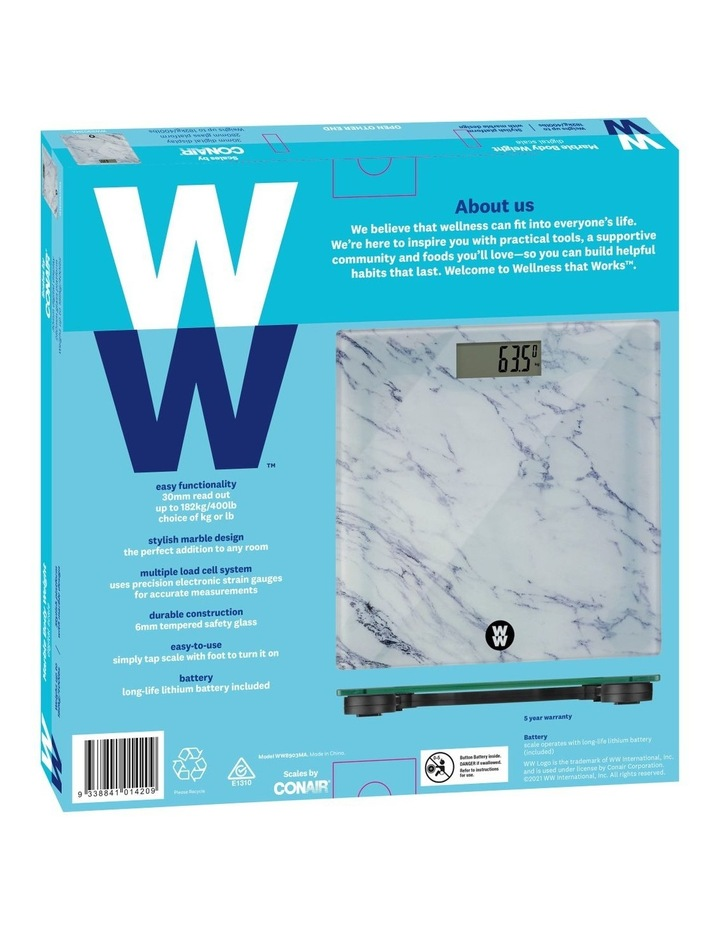 Marble Body Weight Scale: WW8903MA image 5