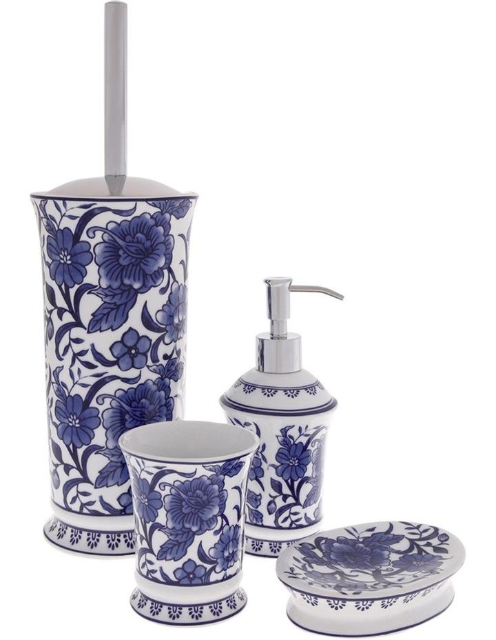Madeline Lotion Dispenser in White/Blue image 1