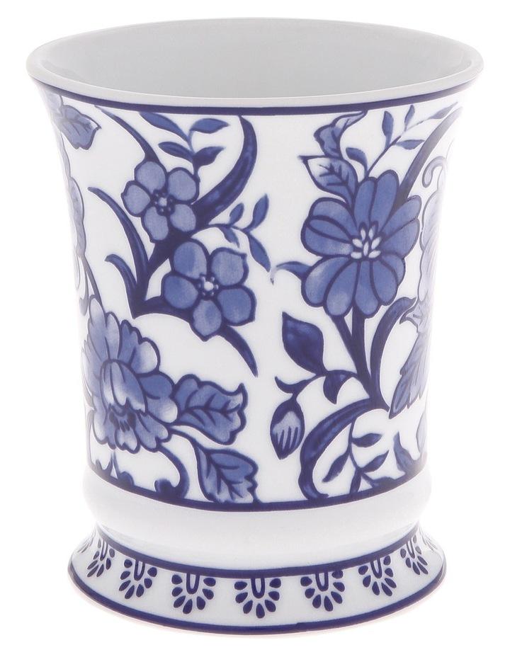 Madeline Lotion Dispenser in White/Blue image 3