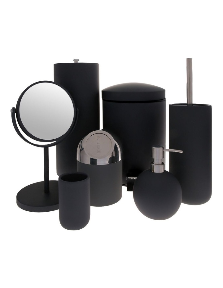 Maine Soft Touch Ceramic Bathroom Accessories in Black image 1