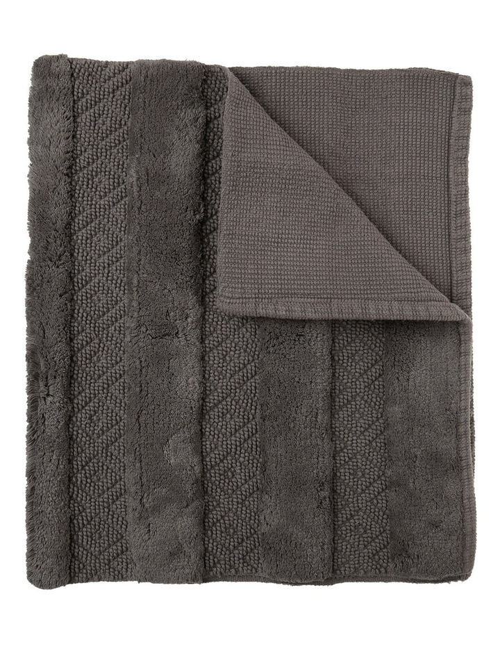 Raleigh Bath Mat in Charcoal image 1