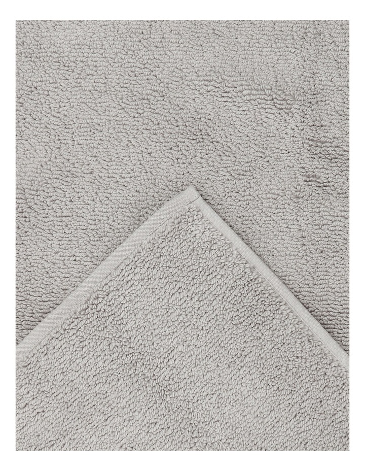 Manarola Turkish Cotton Bath Mat in Grey image 2