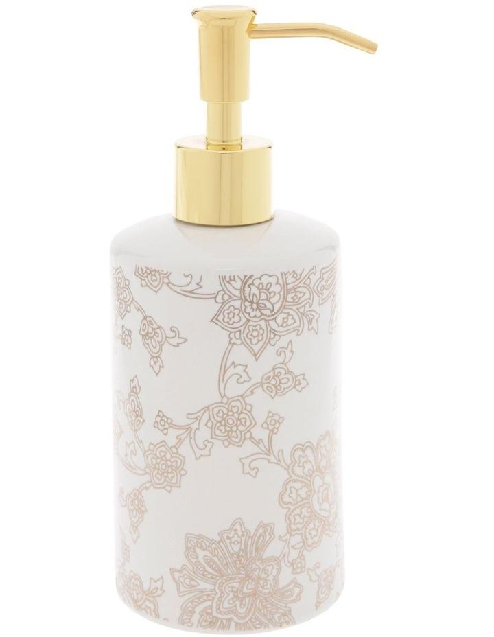 Aris Gold Foil Floral Print Lotion Dispenser image 1
