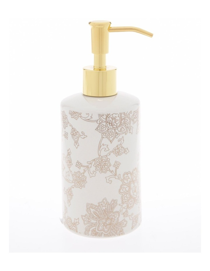Aris Gold Foil Floral Print Bathroom Range in White image 4