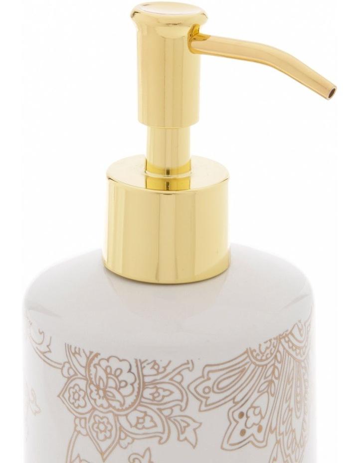 Aris Gold Foil Floral Print Bathroom Range in White image 5