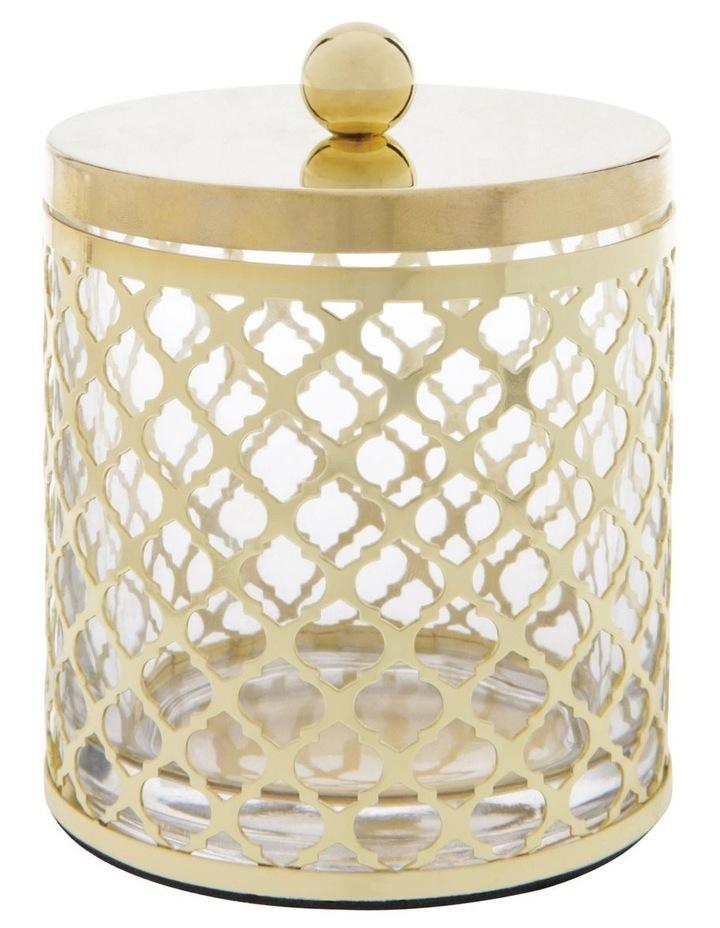 Odila Glass Bathroom Range with Weave Overlay in Gold image 2