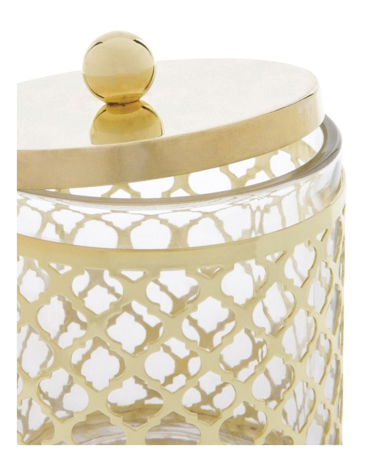 Odila Glass Cotton Box with Weave Overlay image 2