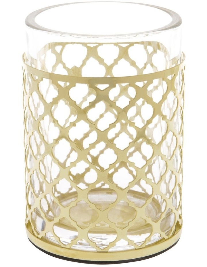 Odila Glass Bathroom Range with Weave Overlay in Gold image 3