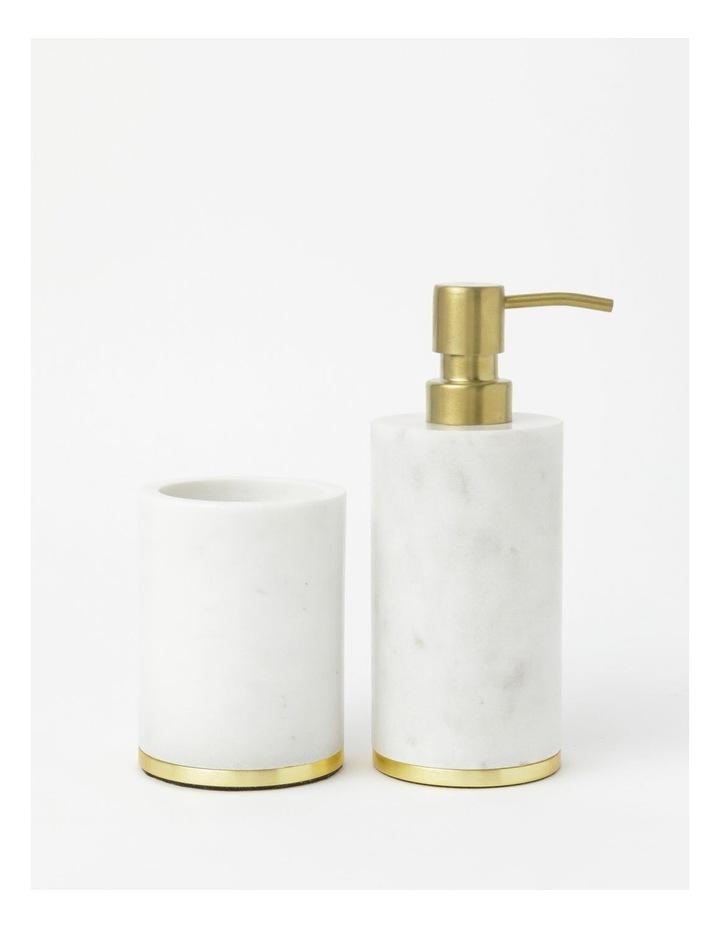 Marble Bathroom Accessories Range in White image 1