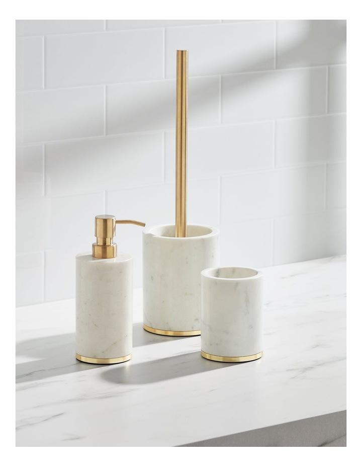 Marble Bathroom Accessories Range in White image 2
