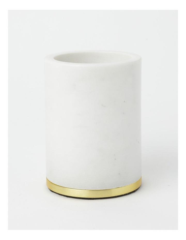 Marble Bathroom Accessories Range in White image 5